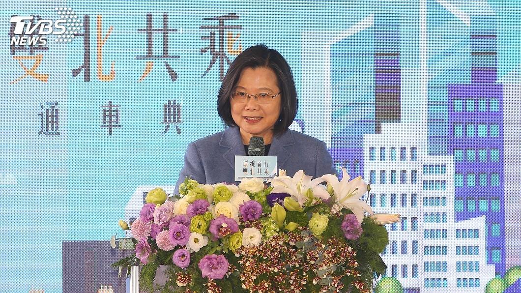 圖/中央社 主持新北環狀線通車典禮 蔡總統允支持建設