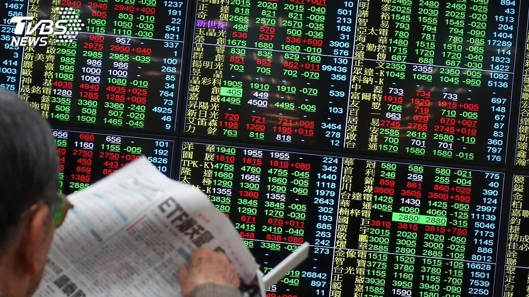 (圖/中央社) 美股下挫 法人估台股可望維持偏多格局
