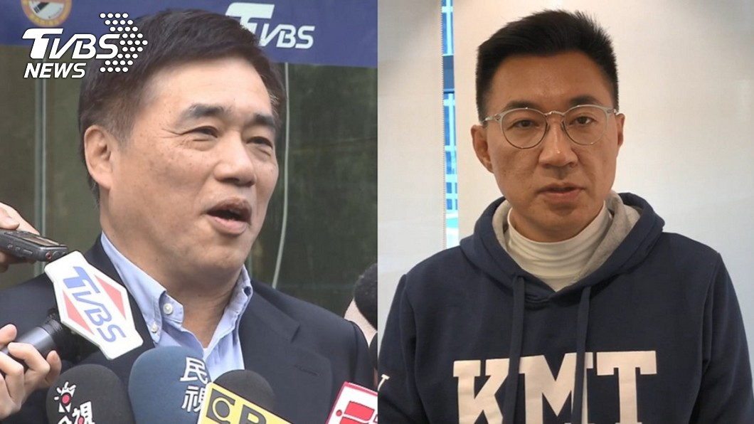 國民黨前副主席郝龍斌(左)、立委江啟臣(右)。(圖/TVBS資料畫面) 國民黨主席之爭!沈富雄揭11點斷言:他會輸得不好看