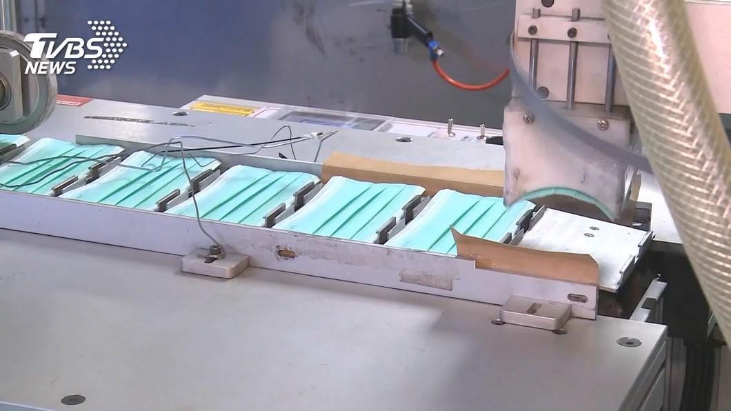 圖/TVBS 15廠商分配60條產線 經濟部力拚日產千萬片口罩