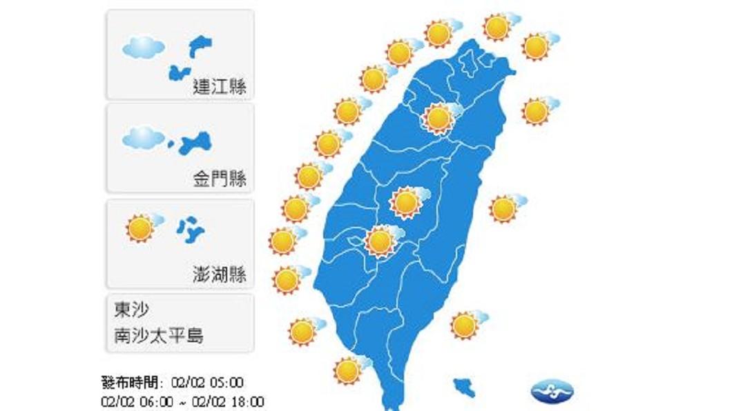 圖/中央氣象局 輻射冷卻效應 早晚偏冷請保暖