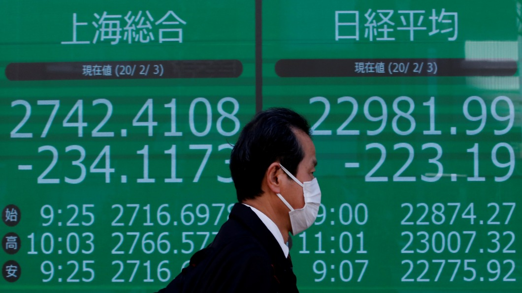 圖/達志影像路透 日本20人確診.中國境外最多 Q1GDP估降0.4%
