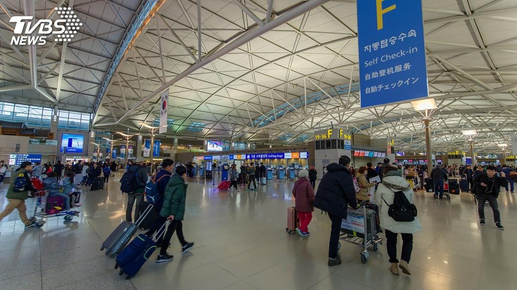 示意圖/TVBS 由中國入境旅客 韓國仁川機場設專用檢疫處
