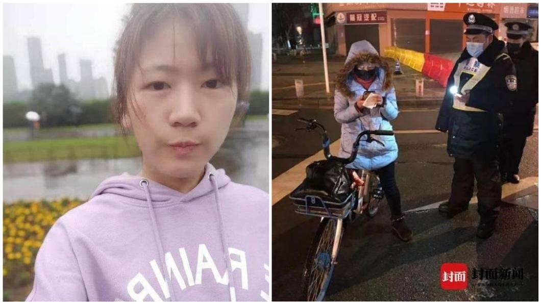 湖北1名23歲女子從老家騎單車要返回工作崗位。(圖/翻攝自封面新聞) 23歲女回化驗室工作救人 騎單車4天3夜300公里