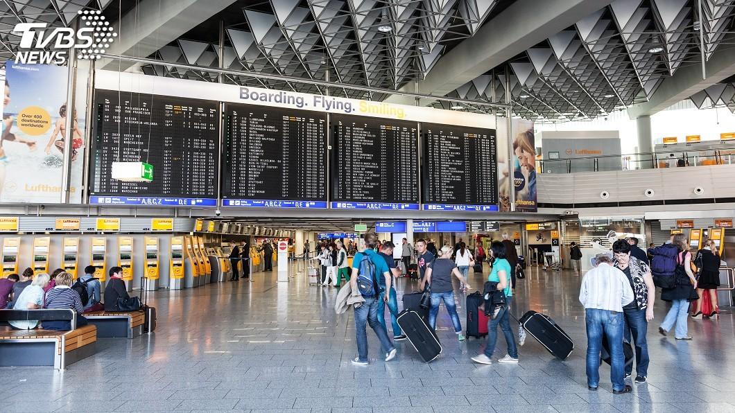 示意圖/TVBS 風暴薩賓來襲 法蘭克福機場約百架航班取消起降