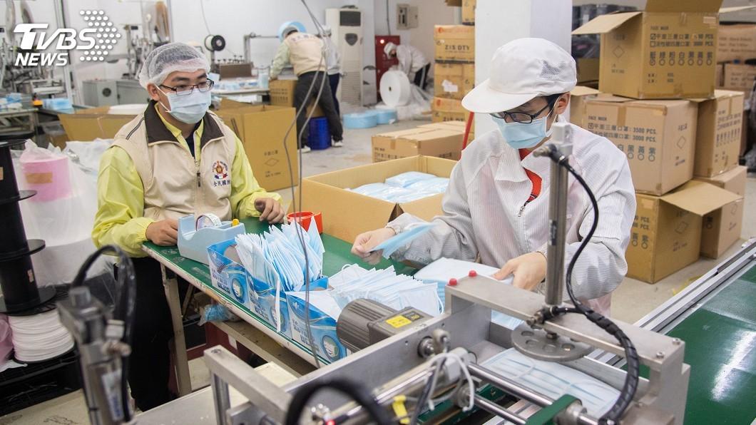圖/中央社 蘇貞昌:口罩日產增至420萬片 醫院配送量倍增