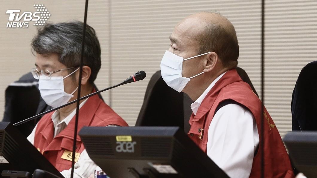 圖/中央社 韓國瑜現身院會 盼中央協助公務口罩、額溫槍