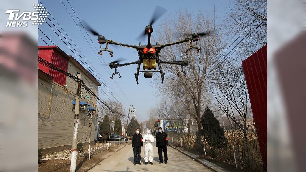 圖/達志影像路透社 防疫期間還趴趴走 中國動用無人機逐個揪出