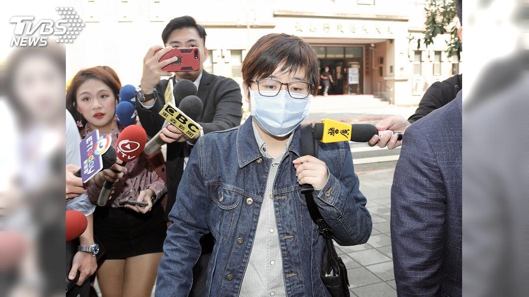 圖/中央社 現身北院否認侮辱公署 楊蕙如:反制中國假消息