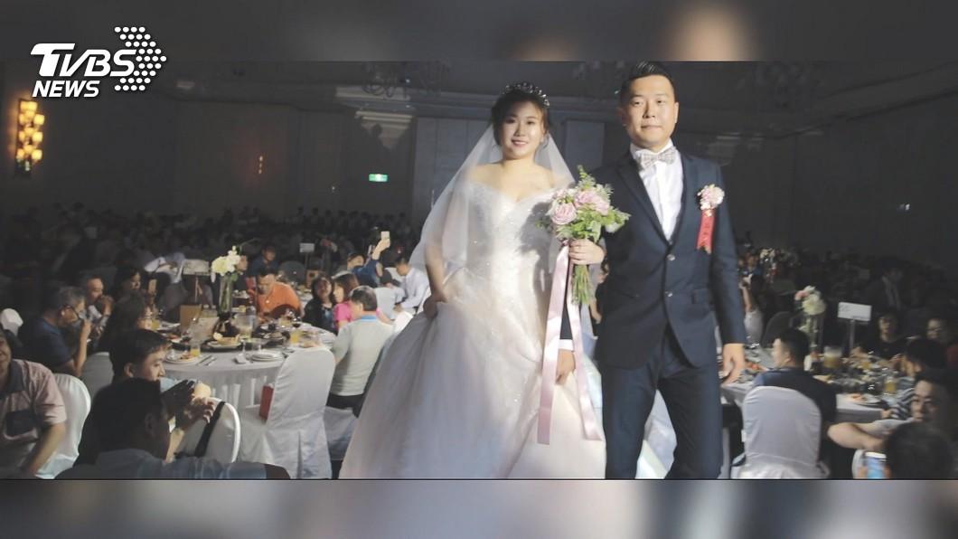 圖/TVBS 新冠肺炎攪局 林酒店婚宴場遭退、延8組