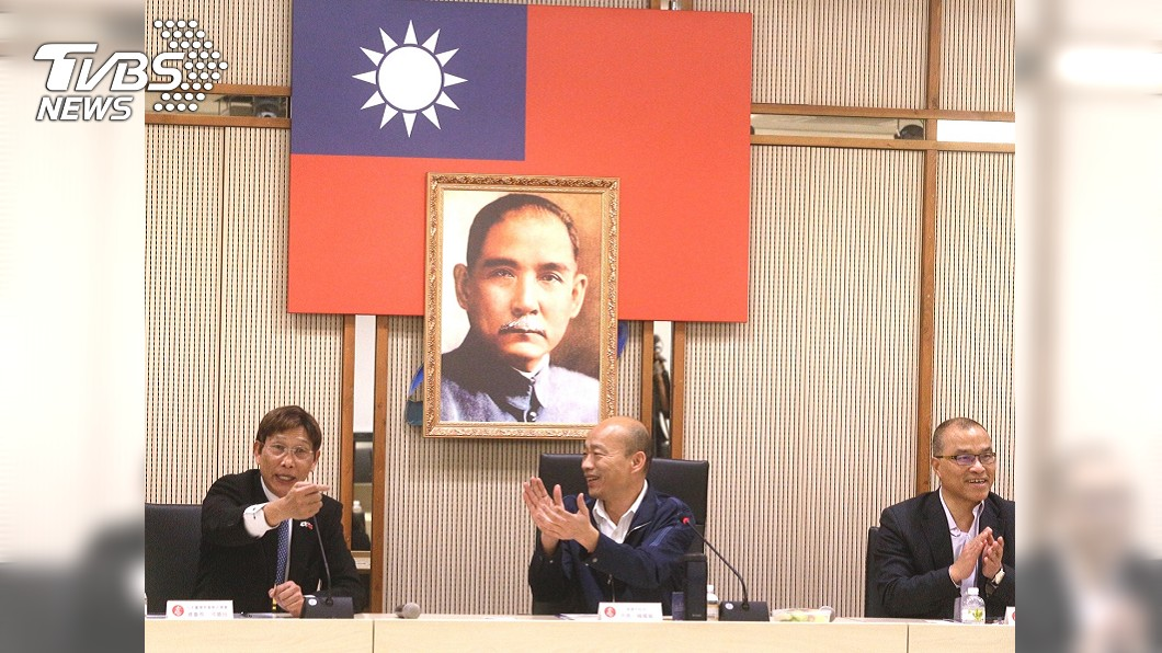 圖/中央社 日本台商會訪高市府 成員要罷韓者摸摸良心