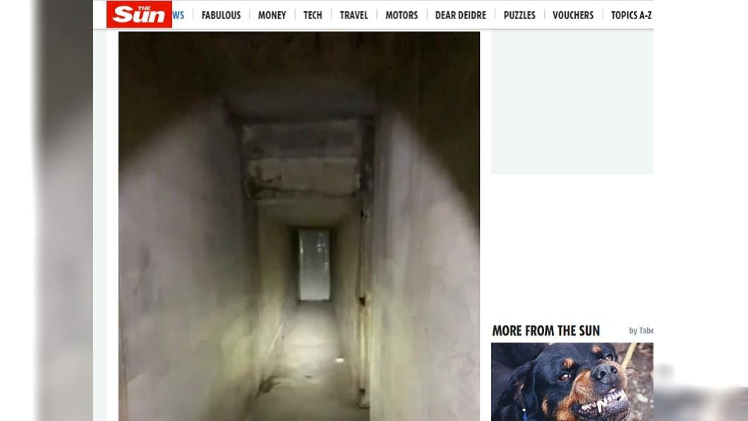美國男子買下有87年歷史的老房,結果意外發現1條隧道。(圖/翻攝自太陽報) 買87年老房驚見詭木板 男一拆開…當場頭皮發麻