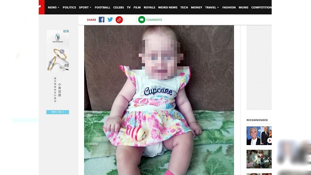 柯爾布僅8個月大的女兒。(圖/翻攝自鏡報) 妻與友人狂飲爛醉 他返家見女兒頭顱滾地上崩潰