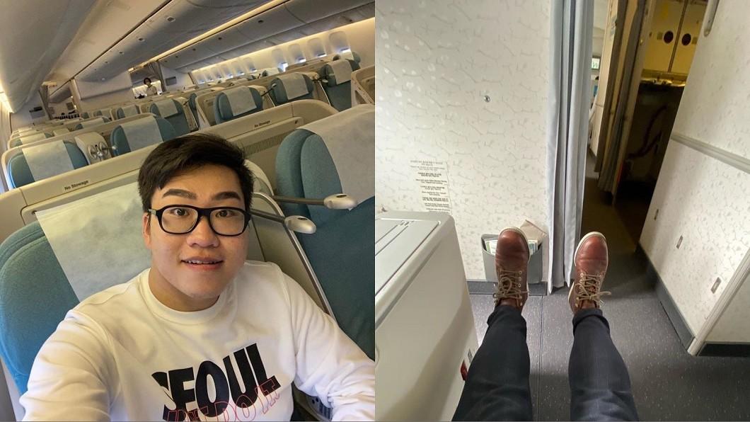 百萬網紅Joeman發文透露近日去首爾所觀察到的情況。(圖/翻攝自Joeman臉書) 飛韓國「商務艙就他1人」!百萬網紅揭首爾現況