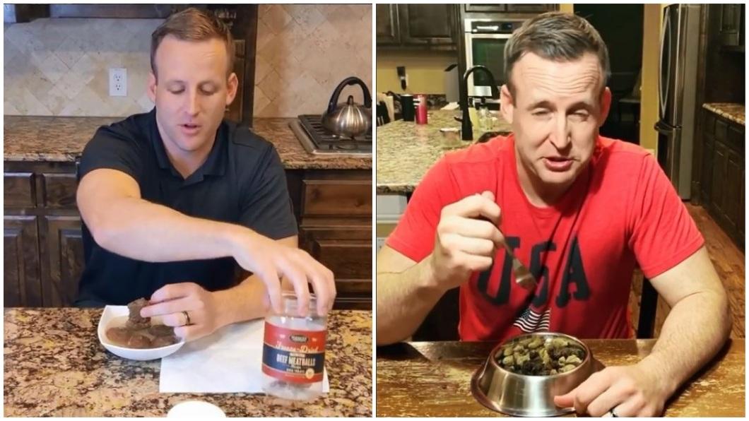 美國1間狗糧公司的CEO,挑戰連續1個月吃自家狗糧。(圖/翻攝自IG) 推薦自家狗糧!CEO「連吃1個月」 身體出現驚人變化