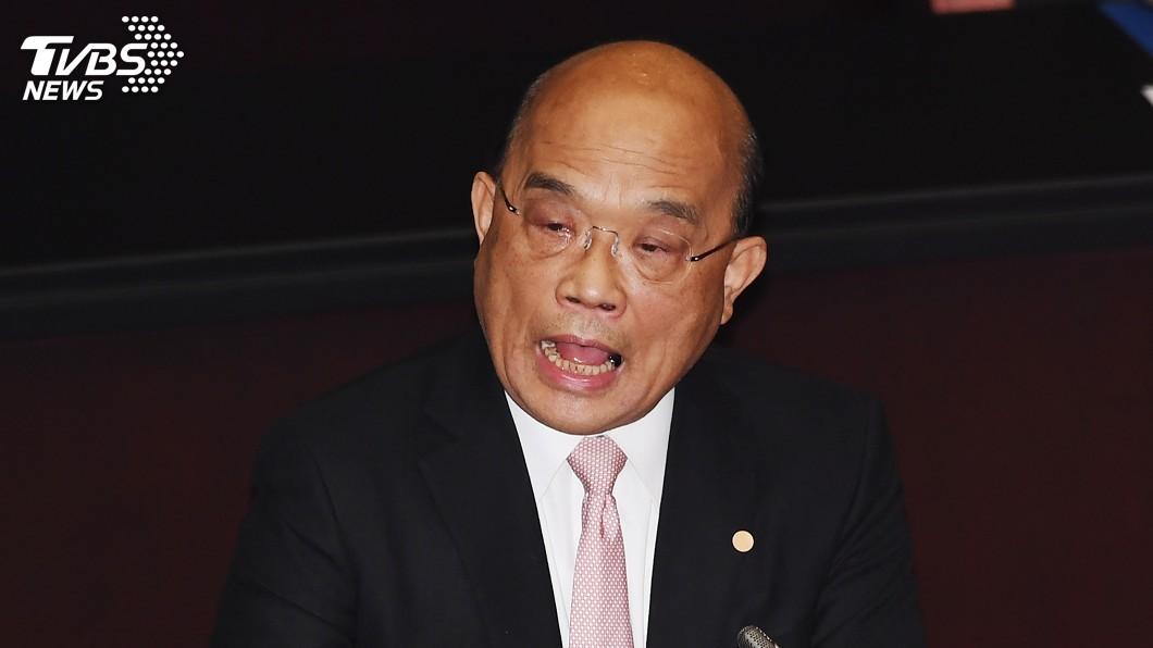 圖/中央社 自備簡報施政報告 蘇貞昌:有政府會做事請安心