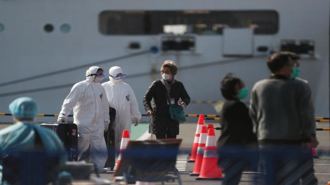 圖/達志影像路透 鑽石公主號三天千人下船 澳洲返國者又二確診