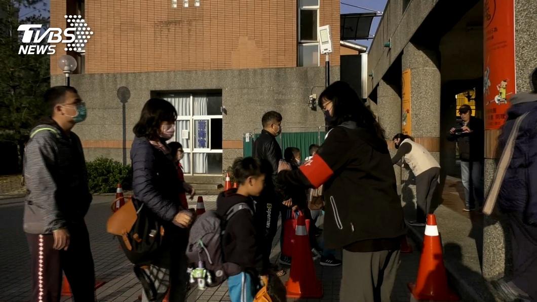 圖/TVBS 1300名小學生返校 額溫槍「過勞」量到當機