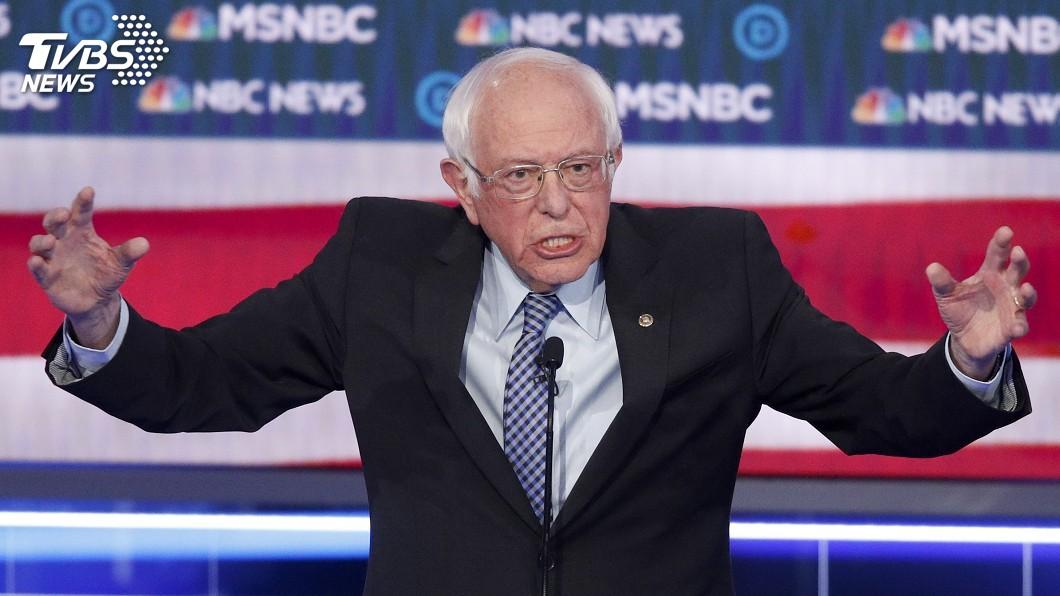 圖/達志影像美聯社 左派桑德斯聲勢望 民主黨憂他出征恐難打敗川普