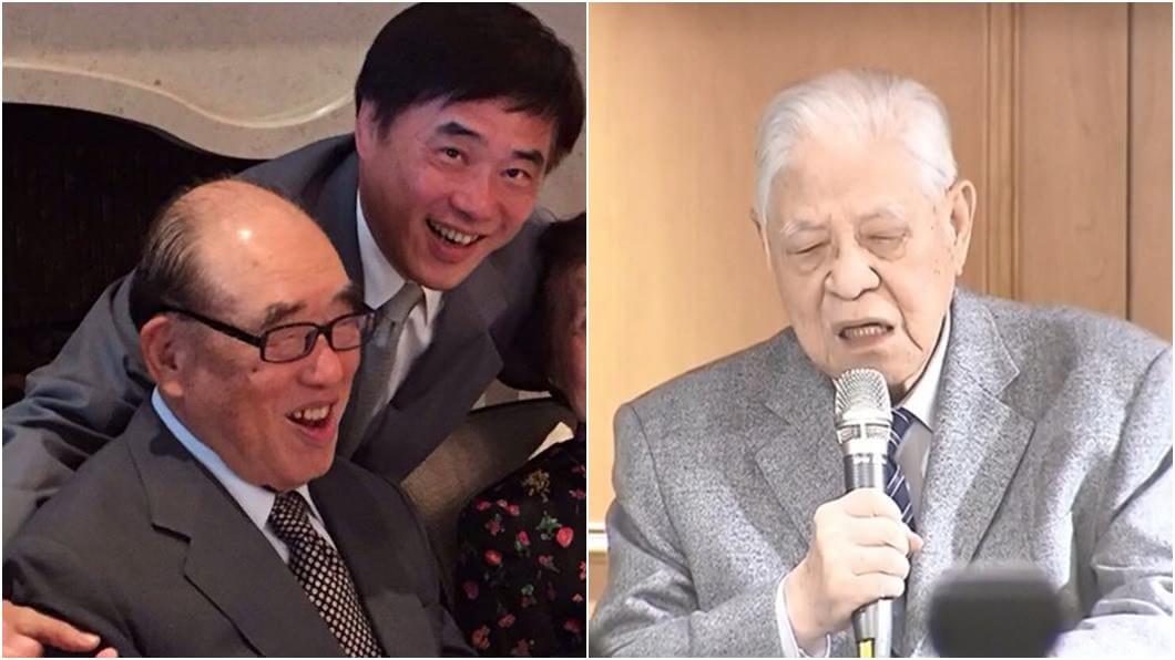 高齡101歲的前行政院長郝柏村(左)與98歲的前總統李登輝(右),目前都因病入院治療中。(圖/翻攝自郝龍斌臉書、TVBS資料畫面) 李登輝病情受矚 郝龍斌親曝「郝柏村身體狀況」