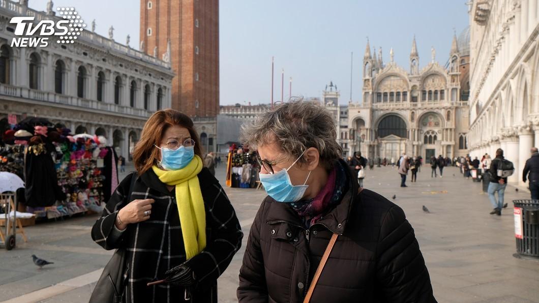 圖/達志影像路透社 威尼斯水災後又遇武漢肺炎 居民苦嘆時運不濟