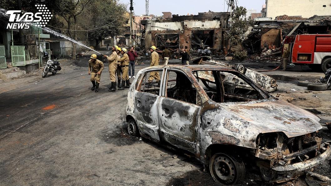 圖/達志影像美聯社 印度新德里反公民法示威 近日衝突釀20死189傷