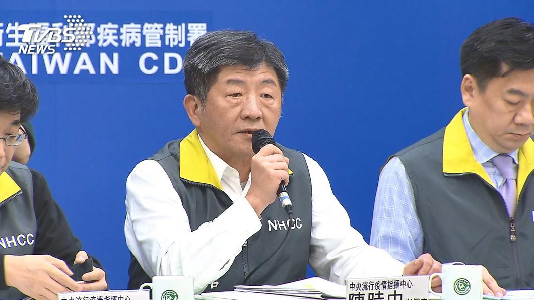 中央流行疫情指揮中心指揮官陳時中。(圖/TVBS) 新冠肺炎確診1天增5人 爆發首起院內感染