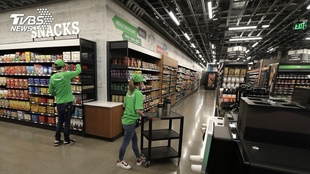 圖/達志影像美聯社 拿了就走免排隊 亞馬遜首間無人超市開張
