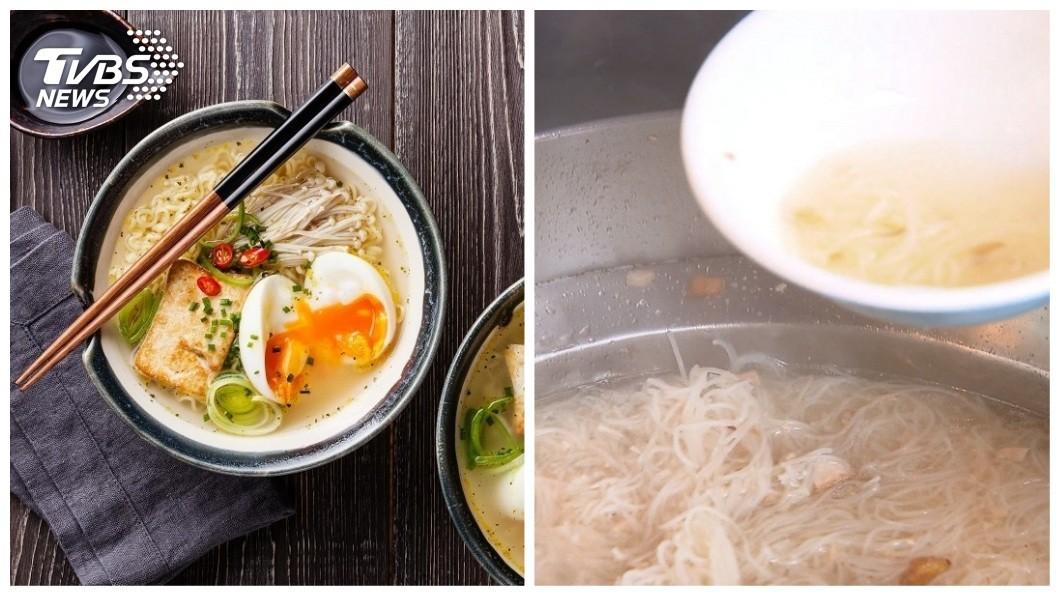 拉麵和米粉湯是不少台灣人愛吃的美食。(圖/TVBS資料圖合成) 老饕必看!米粉湯加「這味」超銷魂 2配料放拉麵超雷