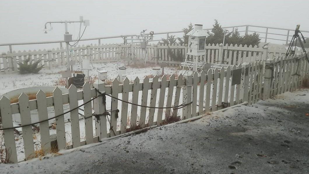 圖/中央氣象局(示意圖) 快訊/銀白世界玉山7:05降雪90分 積雪0.5公分