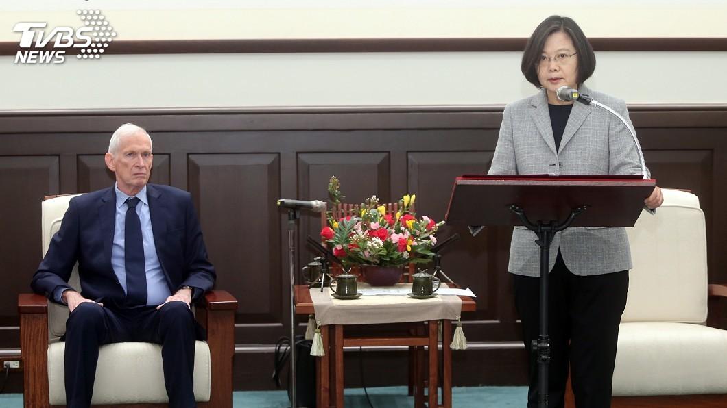 圖/中央社 蔡總統接見莫健 感謝美眾議院通過《台北法案》