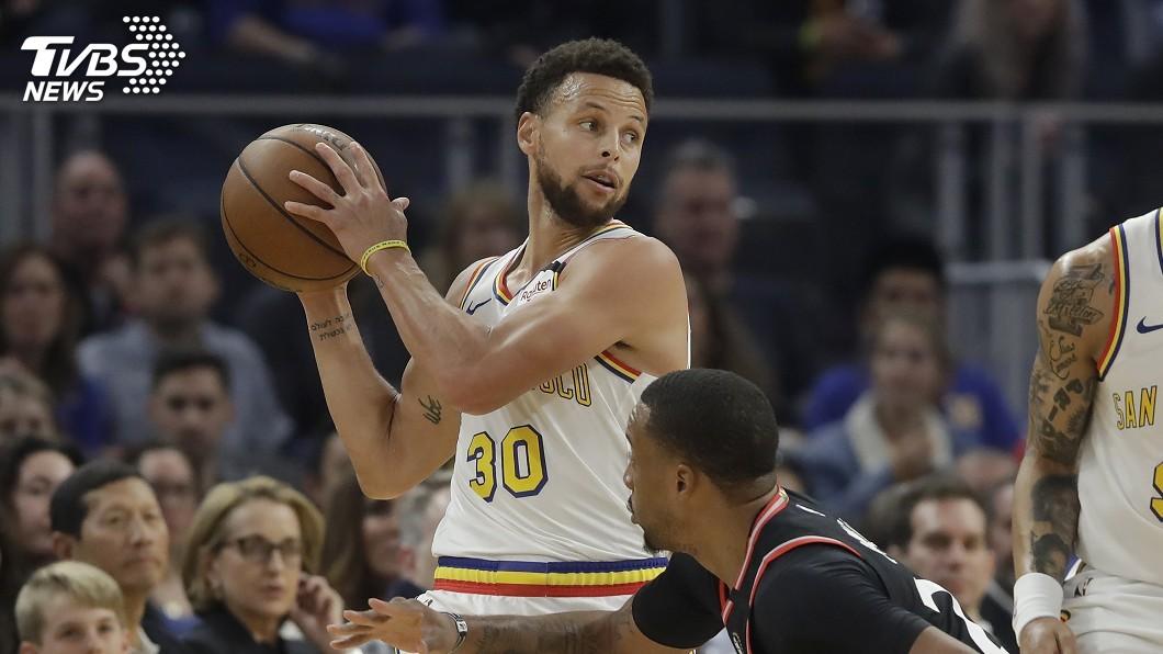 圖/達志影像美聯社 NBA勇士柯瑞復出兩投全落空 首節得分掛零