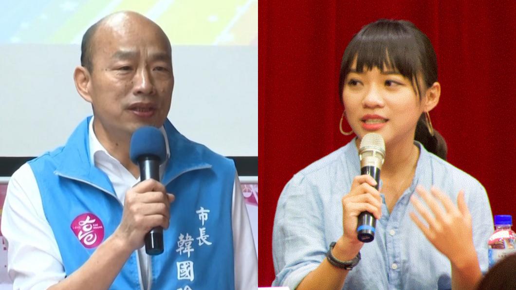 (圖/TVBS、翻攝自黃捷 鳳山捷伴同行臉書) 香港村挨批!韓怒譙「神經病」 她:把話收回去
