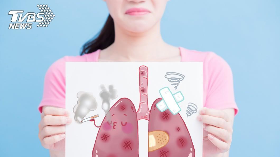 統計指出,女性罹患肺癌機率已快超越男性。(示意圖/TVBS) 肺癌盯上女性族群!醫師提醒「護肺4撇步」