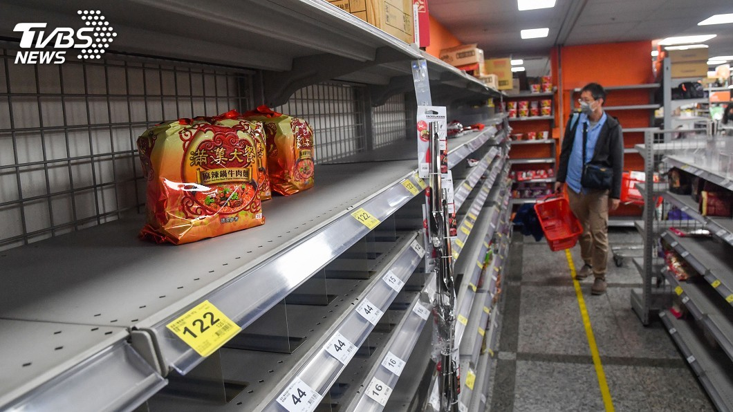圖/中央社 陳時中:世界貨運沒中斷 沒必要搶購物資