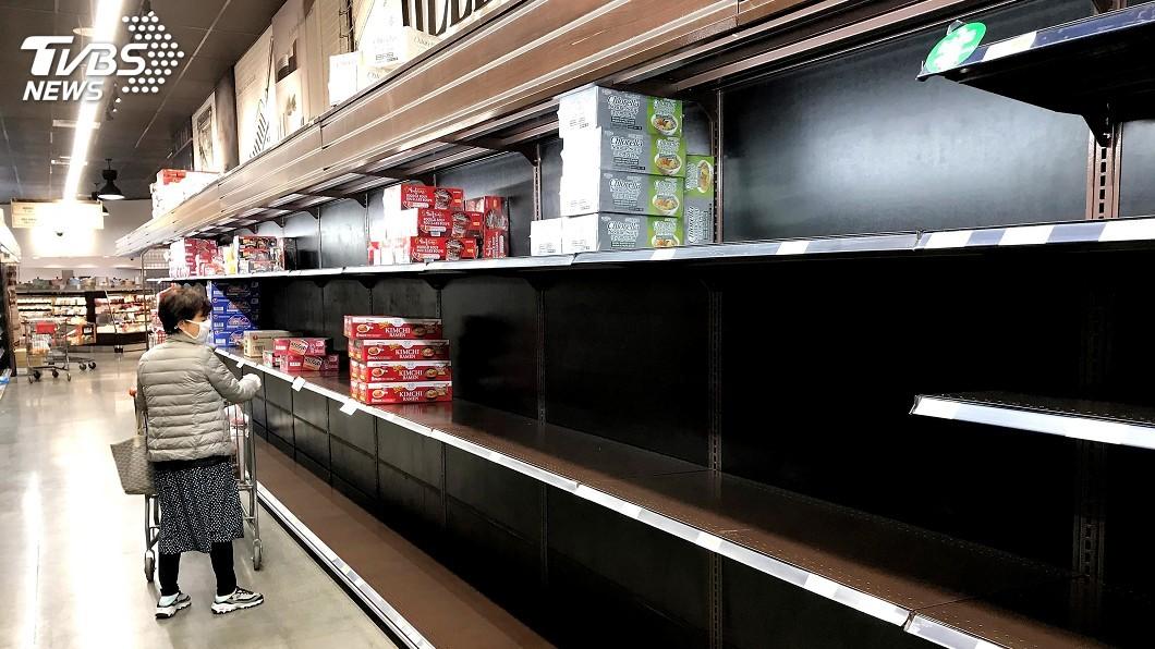圖/中央社 美國疫情下恐慌囤貨 超市賣場推出「敬老時段」
