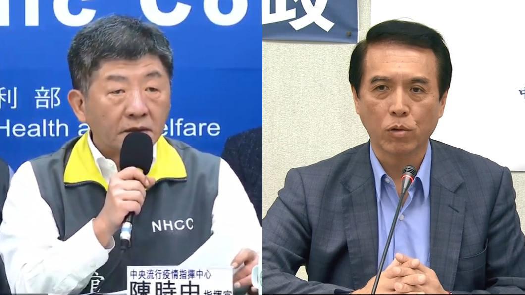 (圖/翻攝自衛生福利部疾病管制署YouTube、TVBS資料照) 陳學聖:還要讓陳時中當指揮官?謝震武聽完超驚訝