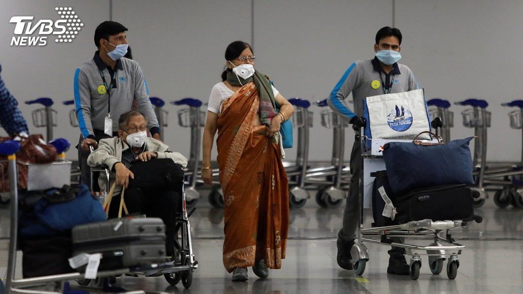 圖/達志影像路透社 印度防疫暫停鐵路客運與地鐵 考慮停飛國內航班