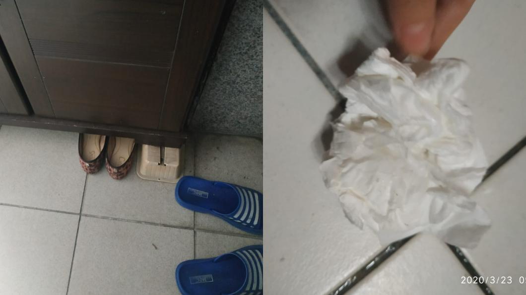 鞋子裡出現「濃稠黏液」噁爆。(圖/翻攝自爆怨公社) 噁!鞋內竟見「濃稠黏液」 網驚案情不單純:那不是痰…