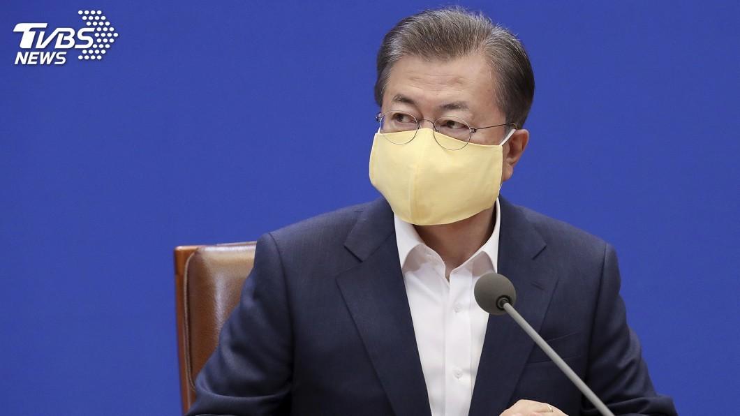 圖/達志影像美聯社 韓國疫情趨緩 文在寅支持率16個月來新高