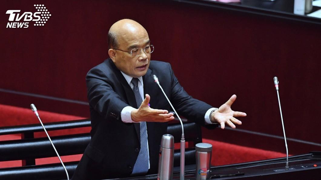 圖/中央社 藍委讚防疫紓困 蘇揆:總統領導有方團隊很強