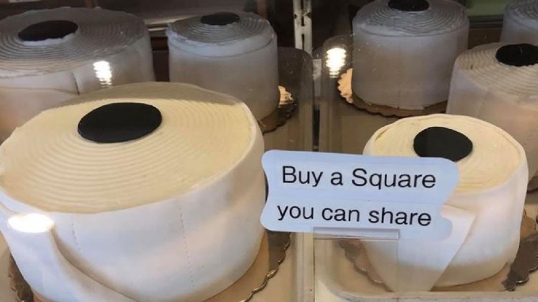 圖/翻攝自Traub 「捲筒衛生紙蛋糕」賣翻! 德國麵包店發幽默防疫財