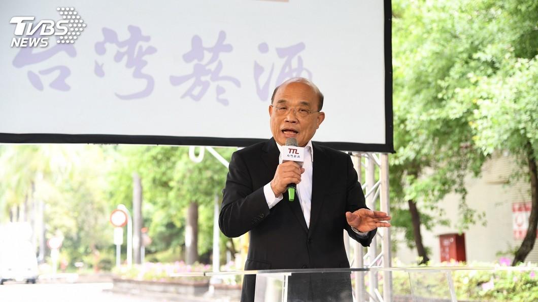 行政院長蘇貞昌視察台中酒廠(圖/TVBS) 內政部辦警政署長 蘇怒「國人看不懂為何這樣亂」