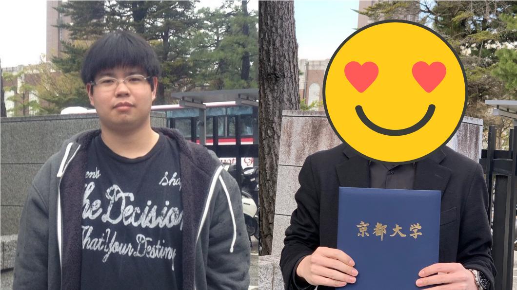 這位日本京都大學的法律系畢業生,入學前後差別非常大。(圖/翻攝自谷口柊彌推特@Shu8__603) 抓緊你身邊的肥宅!大學型男曝「入學前後對比照」