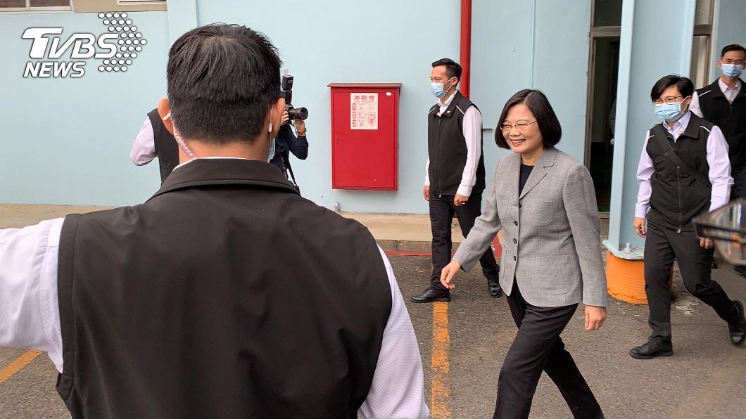 圖/中央社 口罩挑戰日產2千萬片 總統:國家隊表現可圈可點