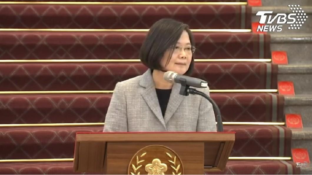 圖/TVBS 蔡總統:捐一千萬片口罩給疫情嚴重國家