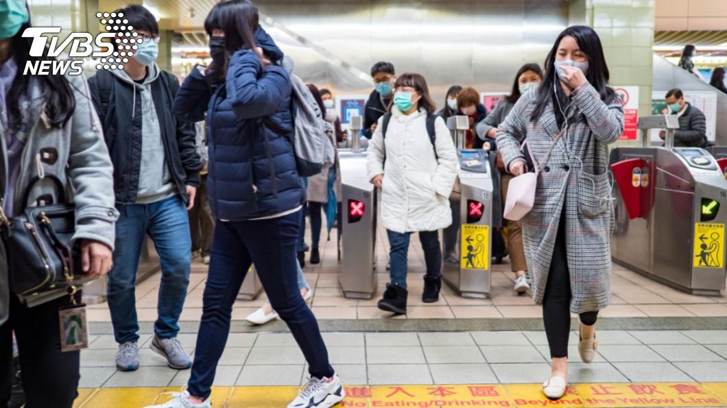 (示意圖/TVBS) 通勤族當心!新冠病毒易散播 台北「5區」為染疫高風險