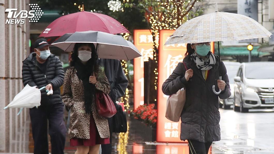 圖/中央社 記得帶傘!白天降雨稍緩水氣多 北台灣較涼