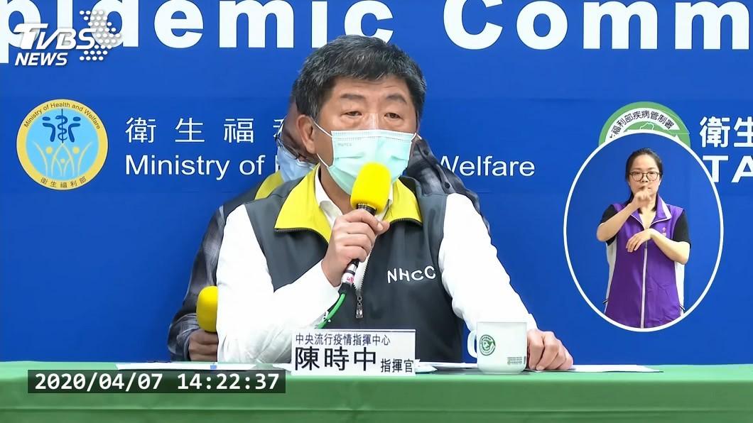 中央流行疫情指揮中心指揮官陳時中。(圖/TVBS) 新冠確診增3例 30多歲女本土案例感染源不明