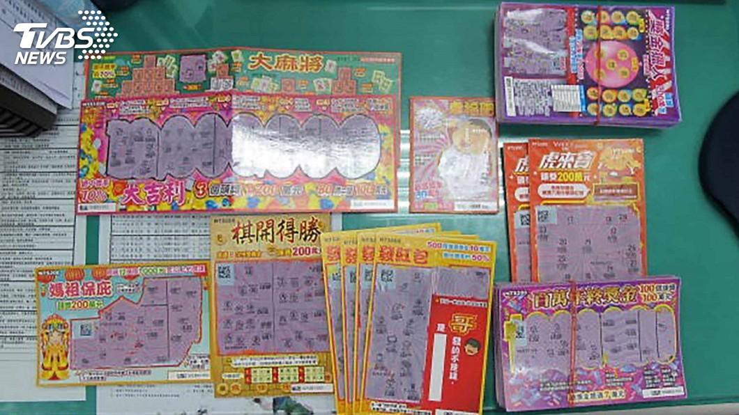 圖/台南市警局提供 變造刮刮樂彩券兌獎得手數十萬 男子被逮送辦